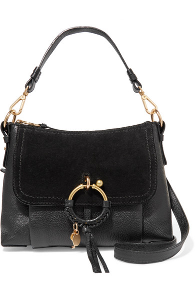 4058c05505bf See By Chloé. Joan small textured-leather and suede shoulder bag