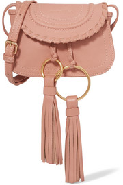 See by Chloé Polly mini tasseled textured-leather shoulder bag