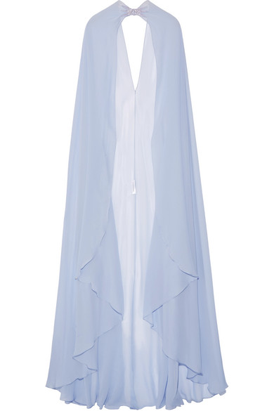 Zuhair Murad - Embellished Silk-georgette Cape - Lilac