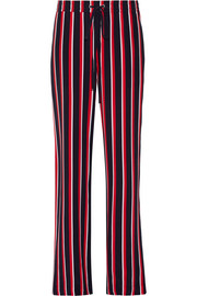 Agnes striped silk-chiffon wide-leg pants
