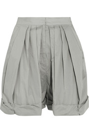 Vika Gazinskaya Pleated cotton shorts