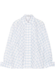Printed cotton-voile shirt