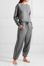 London striped silk and cashmere-blend sweatshirt and track pants set