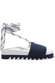 Joshua Sanders Blue Sailor canvas slides
