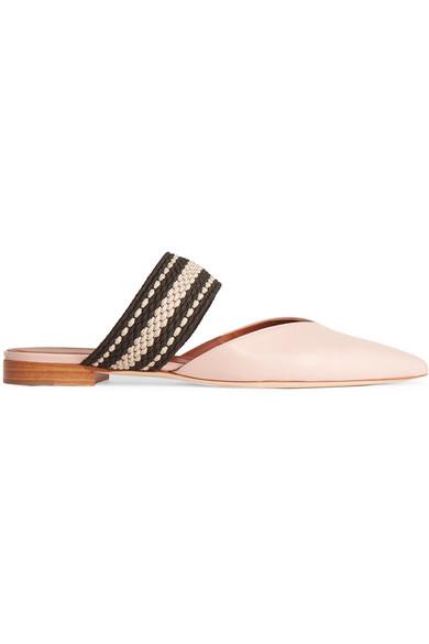 Malone Souliers - + Roksanda Hannah Leather Point-toe Flats - Pastel pink