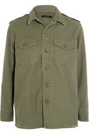 Major washed cotton-canvas jacket