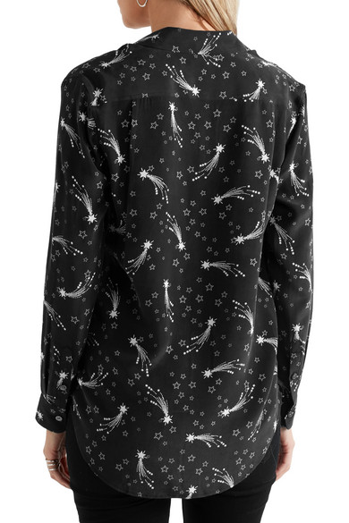 Reese printed washed-silk shirt. $87. Play. Zoom In