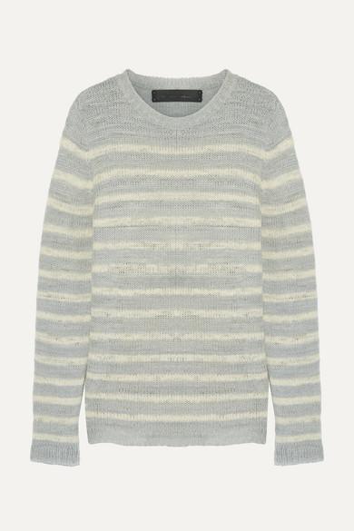 The Elder Statesman - Picasso Striped Cashmere Sweater - Light gray