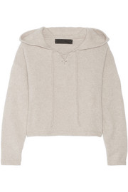 The Elder Statesman Heavy Hockey cropped hooded cashmere sweater