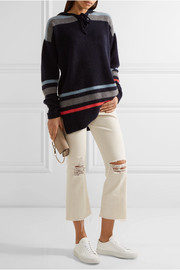 The Elder Statesman Heavy Hockey hooded striped cashmere sweater