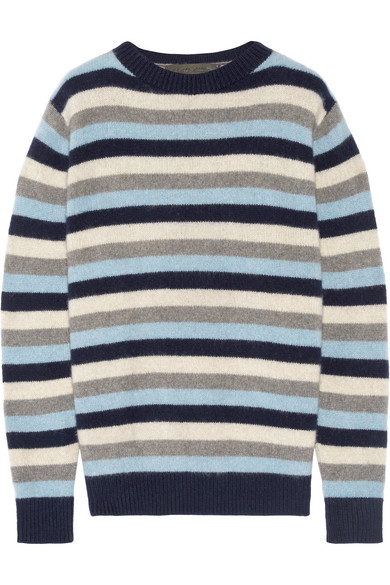 The Elder Statesman - Picras Striped Cashmere Sweater - Navy