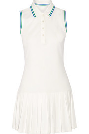 Tory Sport Pleated piqué tennis dress