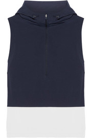 Tory Sport Hooded stretch-jersey and shell vest