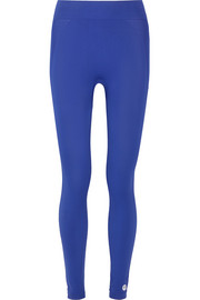 Seamless cropped stretch-jersey leggings