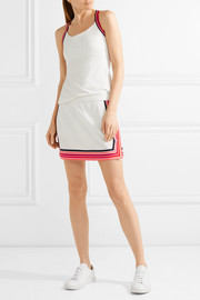 Tory Sport Striped piqué skirt