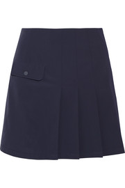 Tory Sport Pleated shell mini skirt