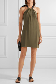 Aria silk crepe de chine halterneck mini dress