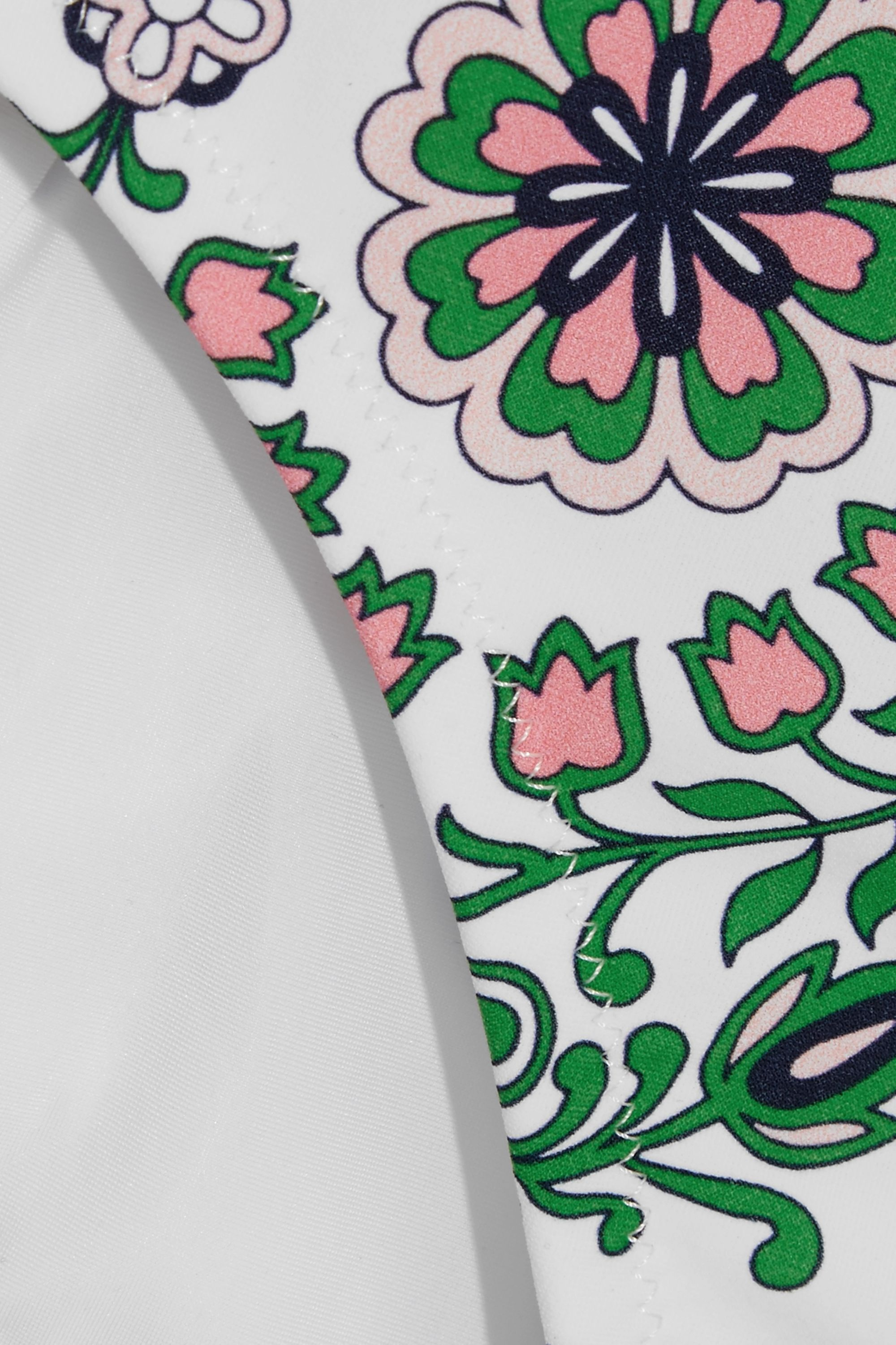 Tory Burch Garden Party printed underwired swimsuit