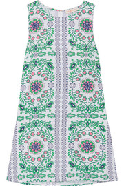 Garden Party printed linen-blend mini dress