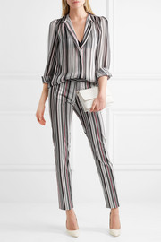 Giambattista Valli Striped silk-georgette blouse