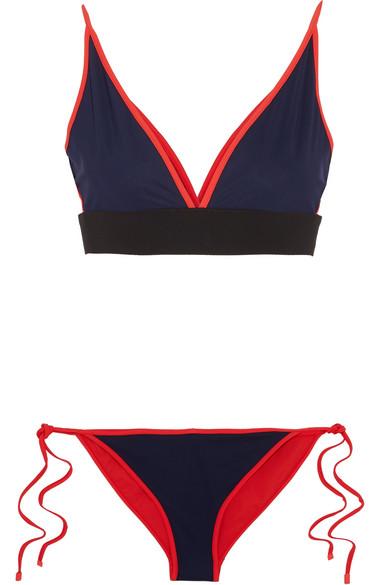 Reversible bonded jersey triangle bikini