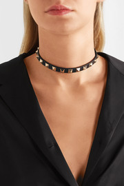 Valentino Rockstud leather choker