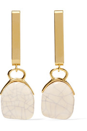 Isabel Marant Gold-tone ceramic earrings