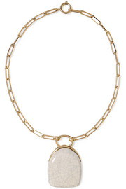 Isabel Marant Gold-tone ceramic necklace