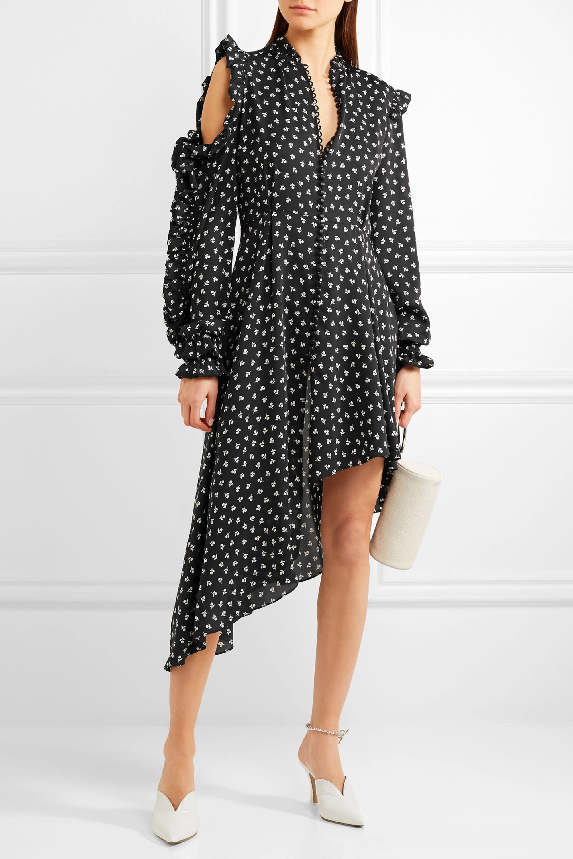 Magda Butrym Marbella asymmetric printed silk-crepe midi dress