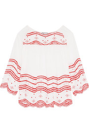 Paul & Joe Broderie anglaise cotton-voile blouse