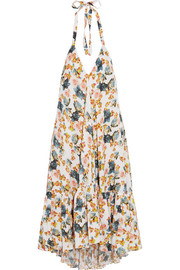 Paul & Joe Fvoisine floral-print twill halterneck dress