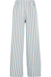 Paul & Joe Striped crepe wide-leg pants