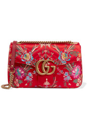 Gucci GG Marmont medium quilted floral-jacquard shoulder bag