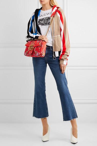 835a0c7f345d GG Marmont medium quilted floral-jacquard shoulder bag