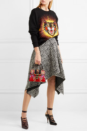 Gucci Sylvie mini chain-embellished jacquard tote
