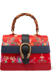 Gucci Dionysus Bamboo medium leather and floral-jacquard tote