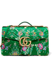 Gucci GG Marmont Maxi quilted floral-jacquard shoulder bag
