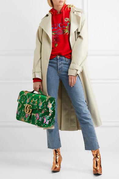 243d63e36e28ce Gucci | GG Marmont Maxi quilted floral-jacquard shoulder bag | NET-A ...