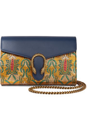 Gucci Dionysus metallic brocade and leather shoulder bag