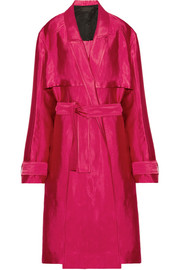 Haider Ackermann Linen-blend trench coat