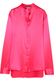 Haider Ackermann Oversized silk-satin shirt