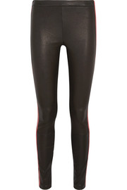 Haider Ackermann Striped leather leggings