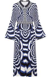 Mary Katrantzou Desmine pleated printed silk crepe de chine dress