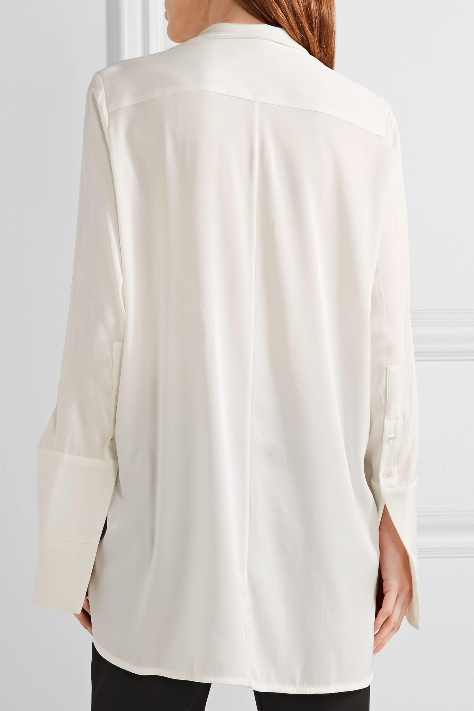 Ellery Mona Lisa embellished stretch silk-satin and georgette blouse