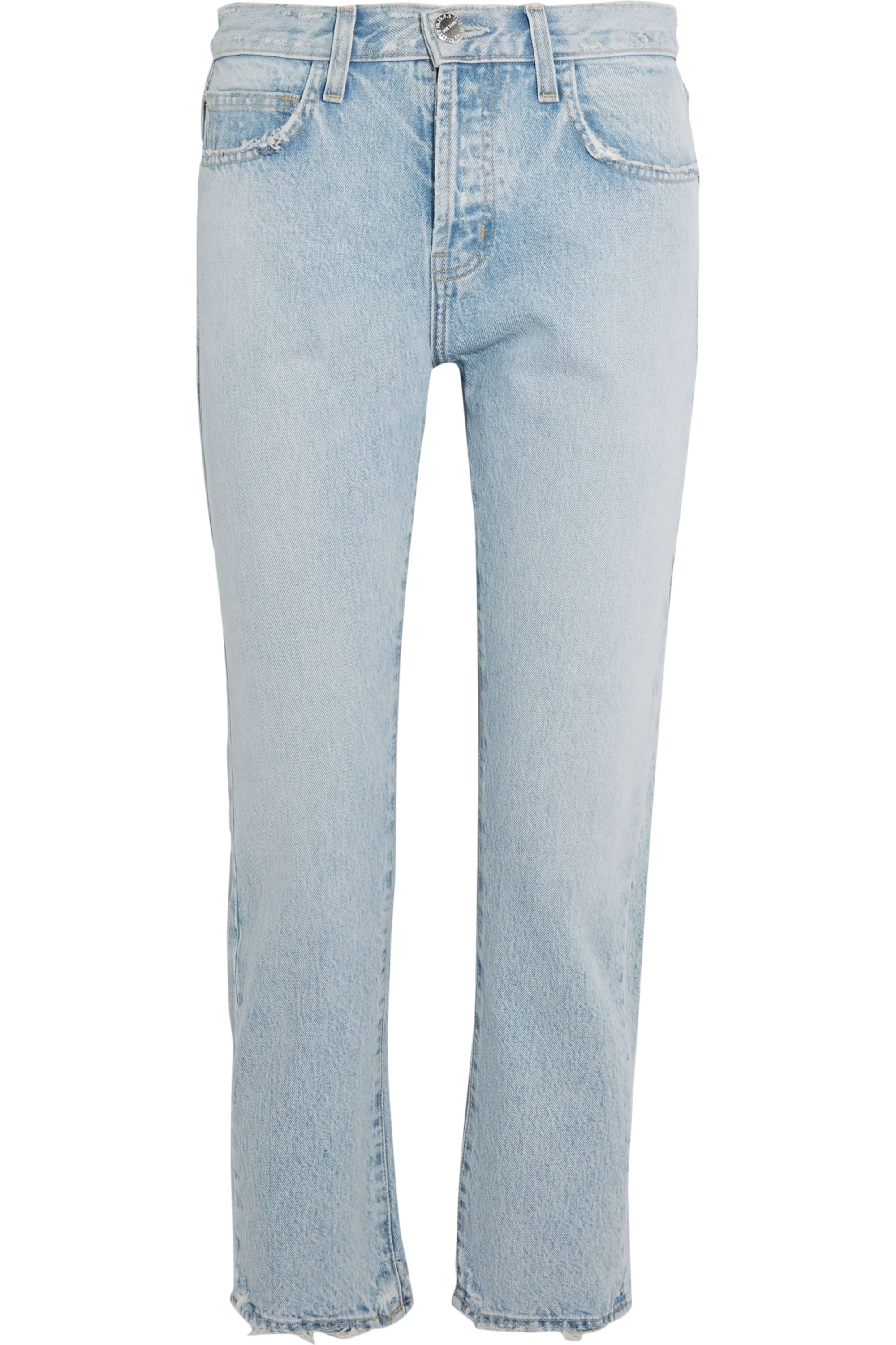 Current/Elliott The Original Straight cropped high-rise jeans