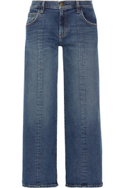 The Wide-Leg Crop mid-rise jeans