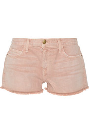 The Boyfriend frayed denim shorts