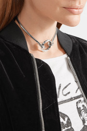 O-Ring Chain rhodium-plated choker