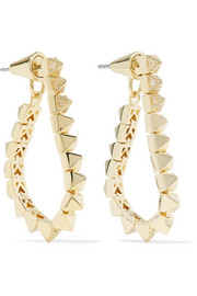 Tennis Link gold-plated crystal earrings