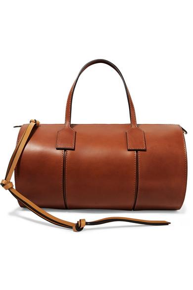 Loewe - Barrel Leather Tote - Brown